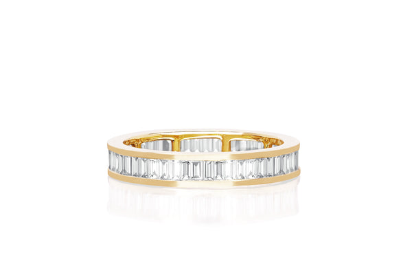 Diamond Channel Set Baguette Eternity Stack Ring