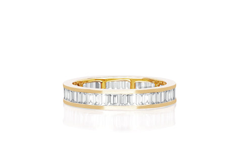 Diamond Eternity Baguette Stack Ring