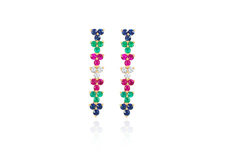 Rainbow Trio Drop Earring