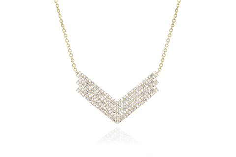 Diamond Jumbo Shield Necklace