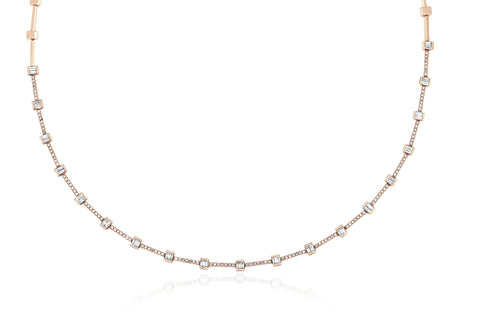 Diamond Baguette Eternity Necklace