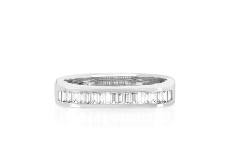 Diamond Baguette Jumbo Bar Ring