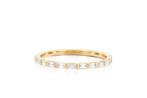 Diamond Baguette Eternity Stack Ring
