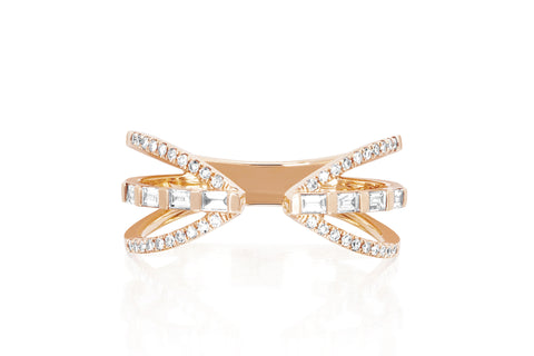 Diamond Baguette Queen Ring