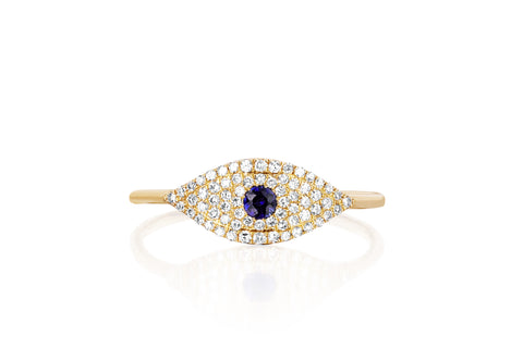 Diamond Jumbo Evil Eye Ring