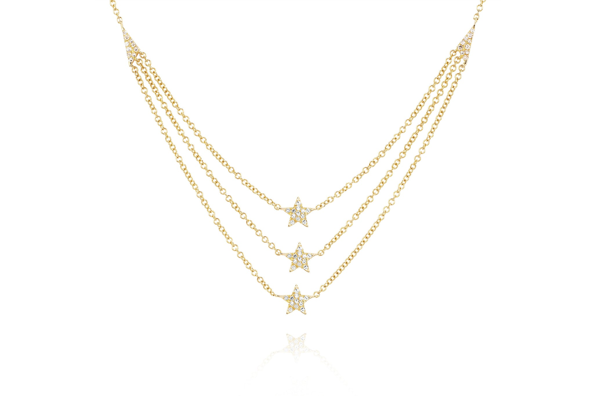 EF Collection Diamond Star Charm Necklace in 14K Yellow Gold teWUyy1jL