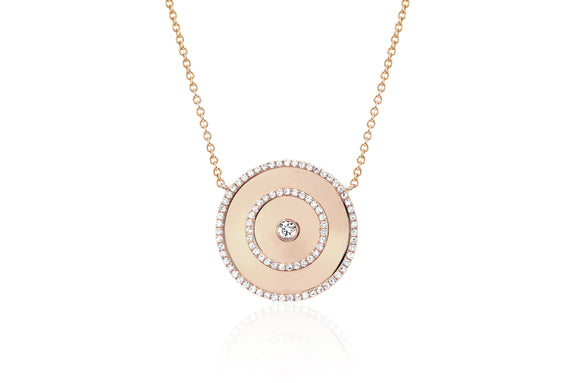 Diamond Bullseye Necklace