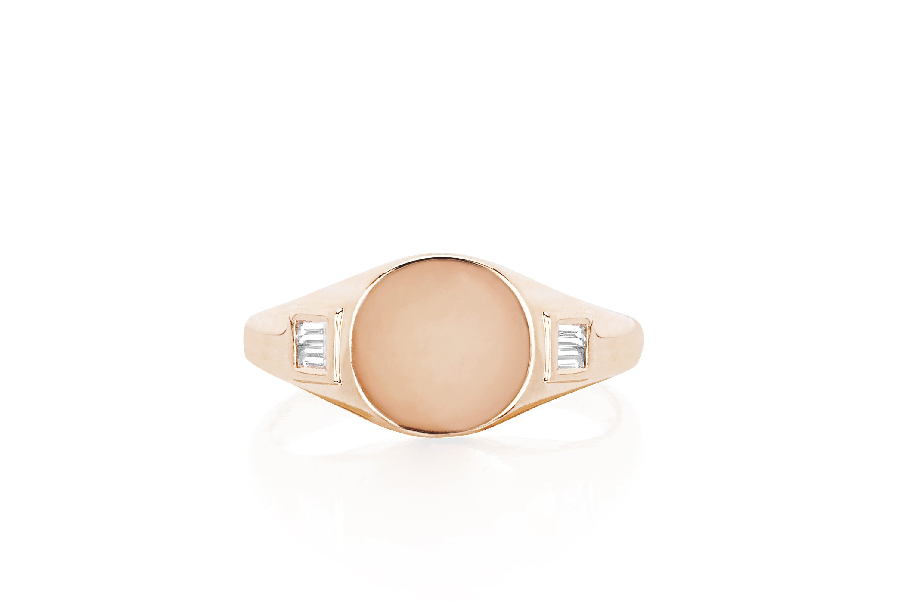 Diamond Baguette Signet Ring