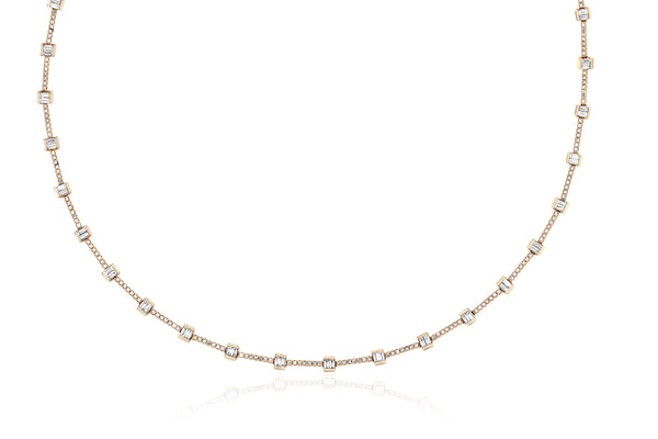 Full Diamond Baguette Eternity Necklace