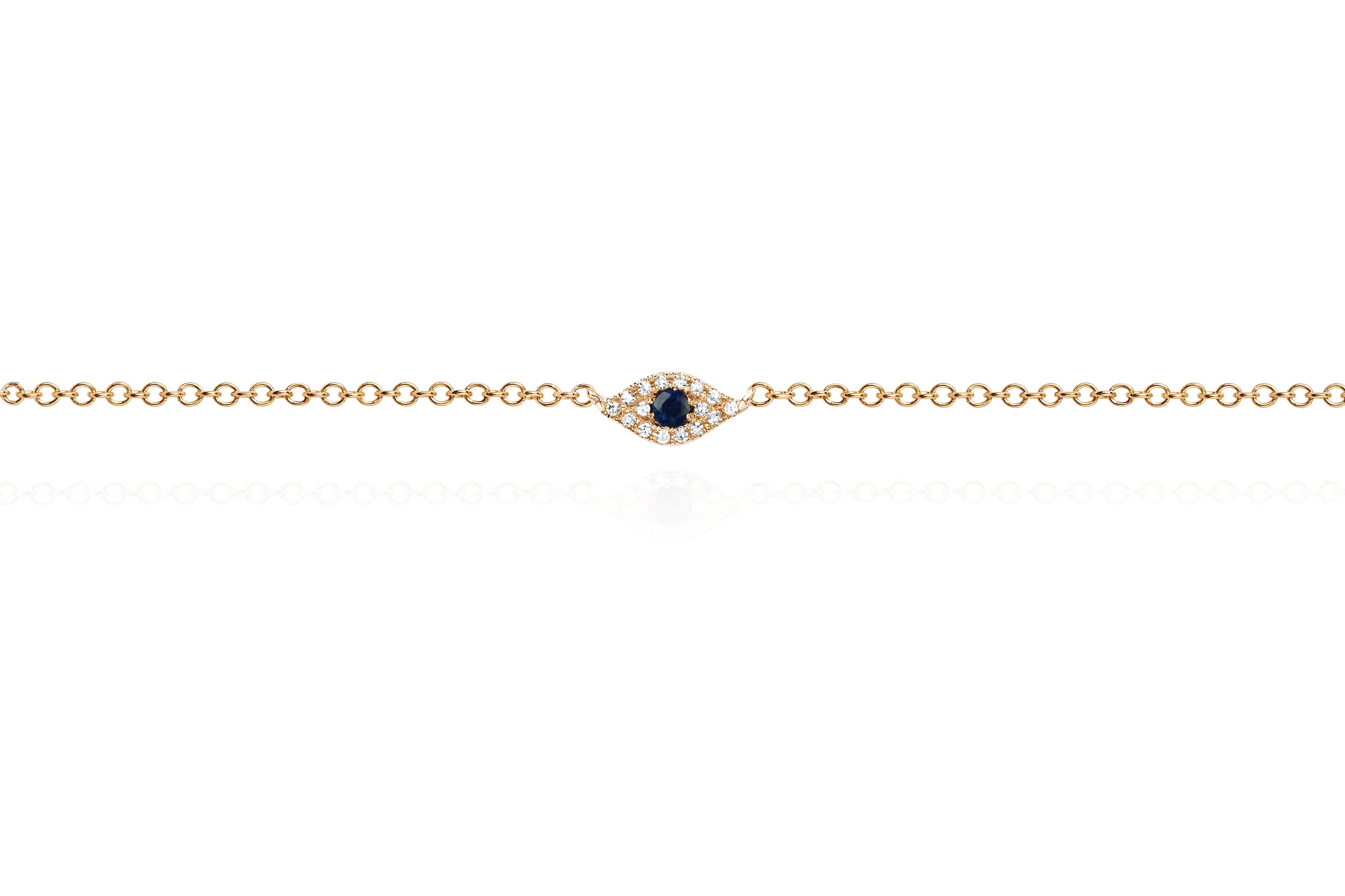 Diamond Evil Eye Anklet