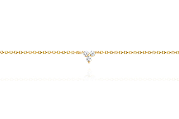 Diamond Trio Anklet