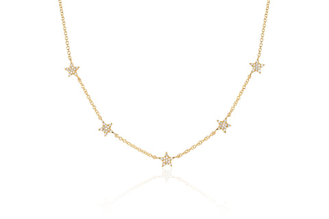 Diamond 5 Mini Star Necklace