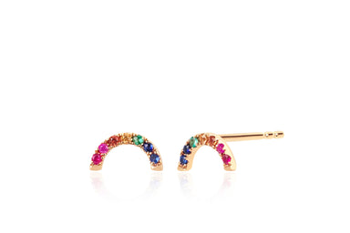 Diamond Rainbow Stud Earring