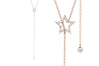 Diamond Open Star Movable Lariat Necklace