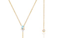 Diamond Trio Opal Lariat Necklace