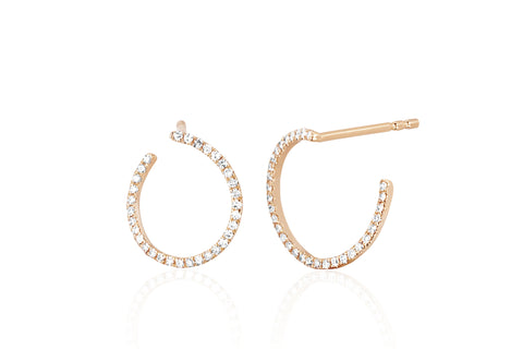 Diamond Illusion Hoop Earring