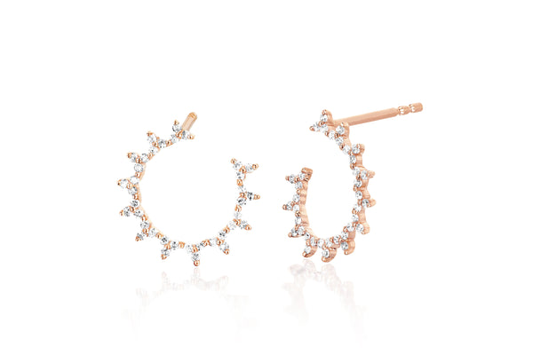 Diamond Trio Illusion Hoop Earring