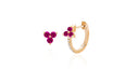 Ruby Trio Stud & Ruby Trio Huggie Earring
