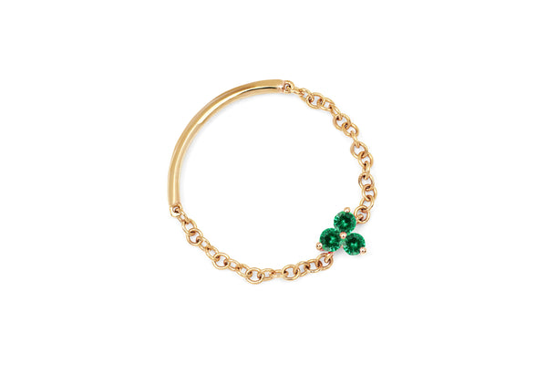 Emerald Trio Chain Ring