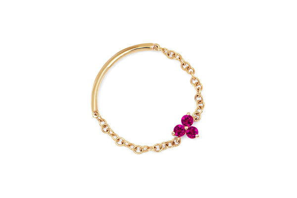 Ruby Trio Chain Ring