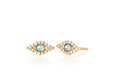 Diamond Jumbo Opal Evil Eye Stud Earring