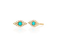 Diamond Jumbo Turquoise Evil Eye Stud Earring
