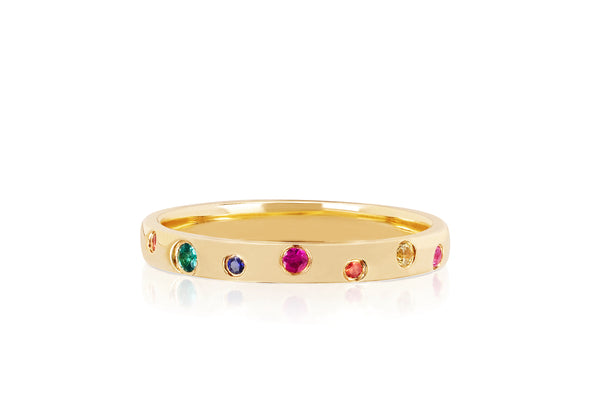 Rainbow Speckled Ring