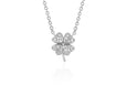 Diamond Mini Clover Choker Necklace