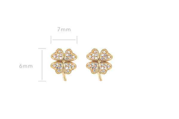 Diamond Mini Clover Stud Earring