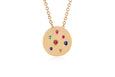 Mini Rainbow Speckled Disc Necklace