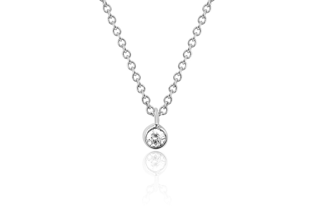 Single Diamond Bezel Chain Necklace