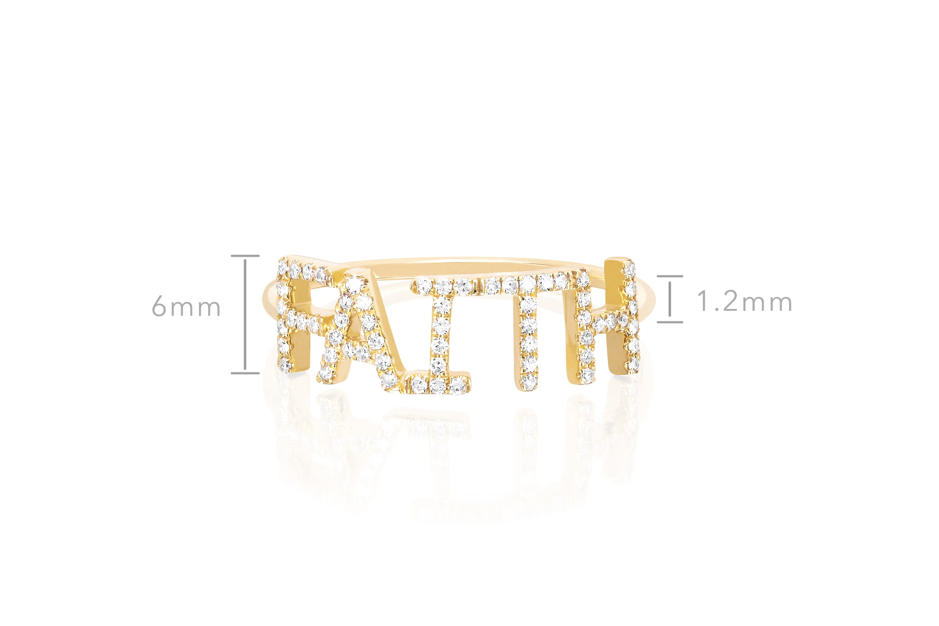 Diamond Faith Ring