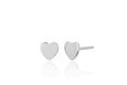 Gold Mini Heart Stud Earring