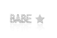 Diamond Babe Stud & Gold Star Stud Earring