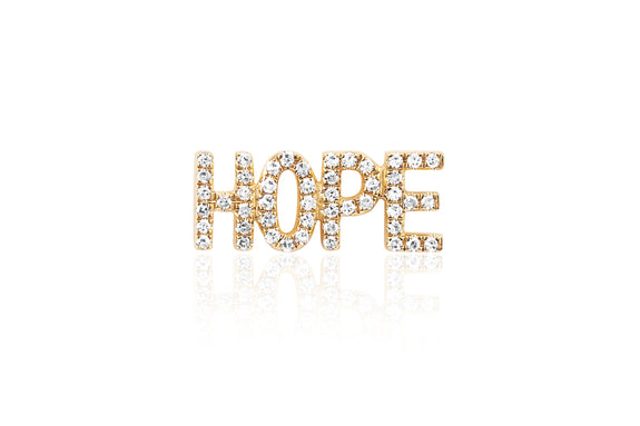 Diamond Hope Stud Earring