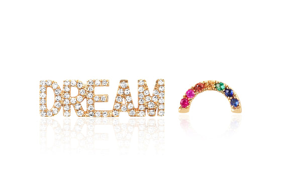 Diamond Dream Stud & Rainbow Stud Earring