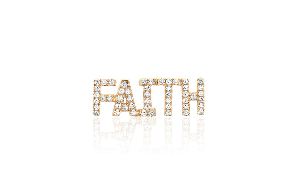 Diamond Faith Stud Earring