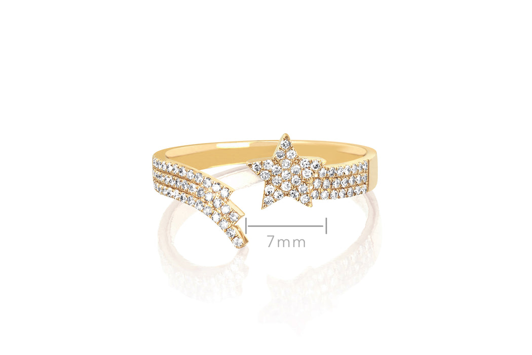 Diamond Shooting Star Ring