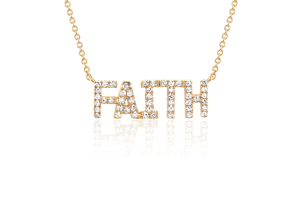 Mini Diamond Faith Necklace