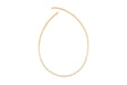 Half Diamond Open Circle Eternity Necklace