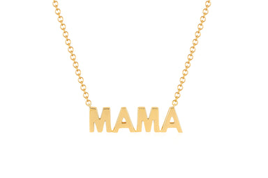 Mini Gold Mama Initial Necklace
