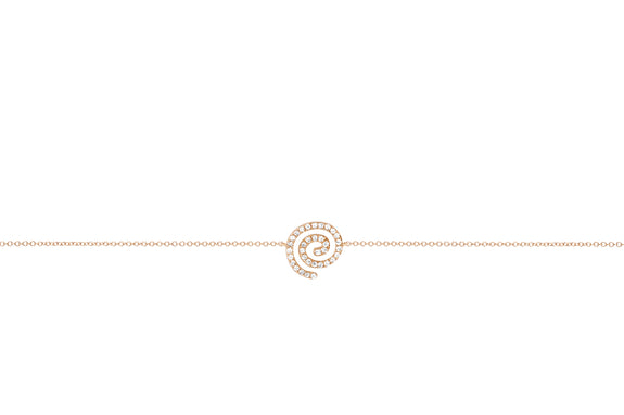 Diamond Swirl Chain Bracelet
