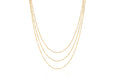 Hasson Triple Layered Chain Necklace
