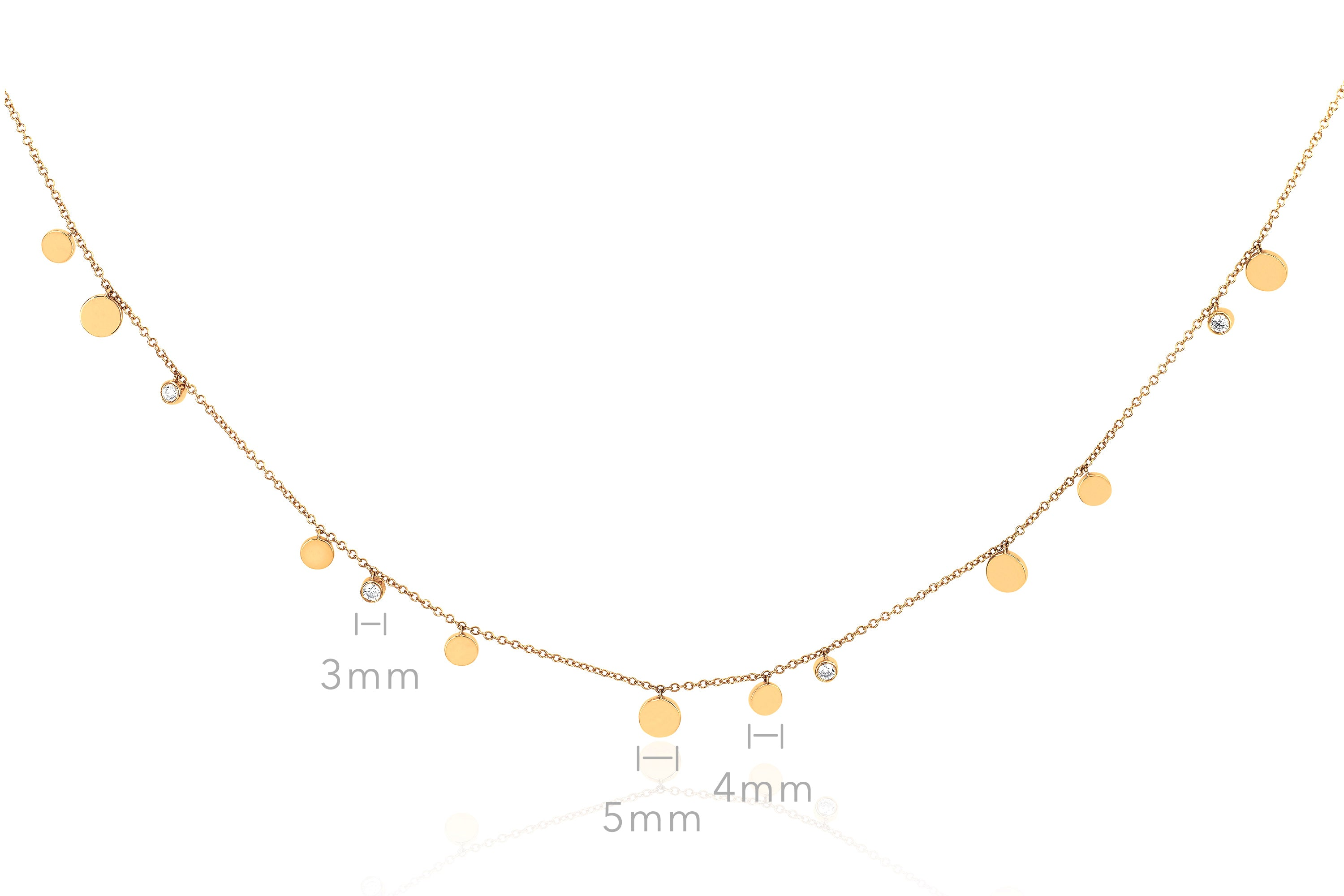 Gold & Diamond Confetti Necklace