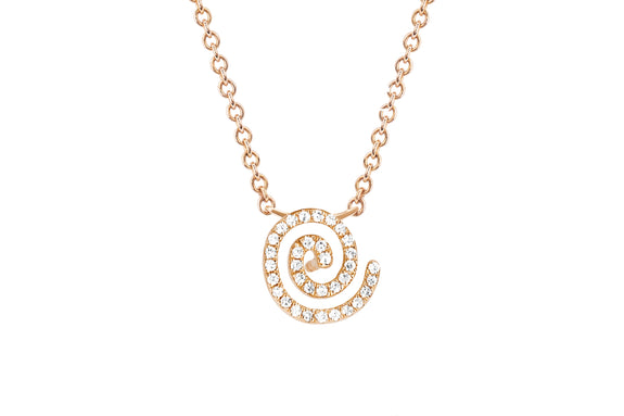 Diamond Swirl Chain Necklace