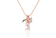 Diamond Hope Charm Necklace
