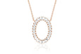 Diamond Jumbo Oval Baguette Necklace