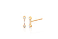 Diamond Bezel Bar Stud Earring