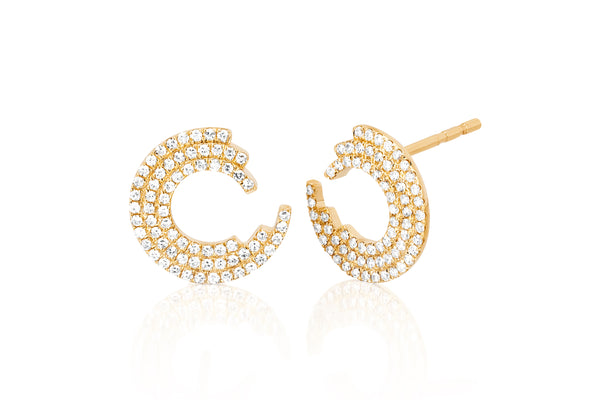Diamond Willow Stud Earring