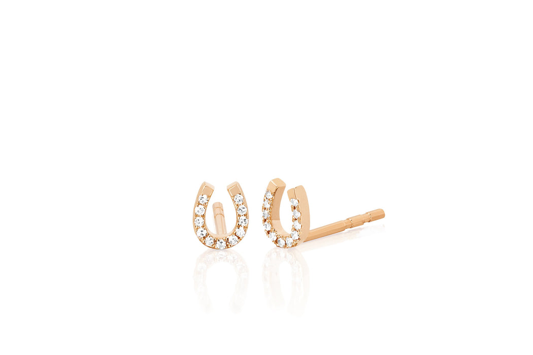 Diamond Mini Horseshoe Stud Earring